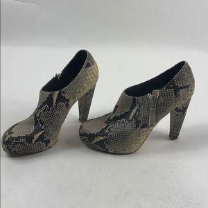 Loeffler Randal Snake Skin Printed Ankle Boots L70